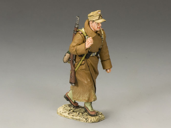 AK rifleman in Greatcoat marching