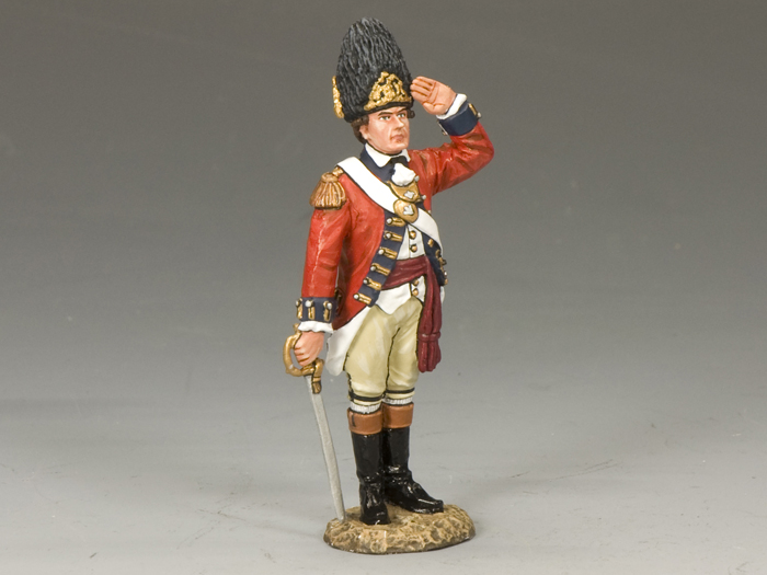 Royal Welch Fusilier Officer Saluting
