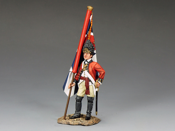 RWF Officer with King's Colour