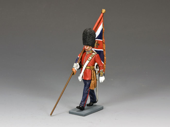 Marching Officer w/King�s Colour