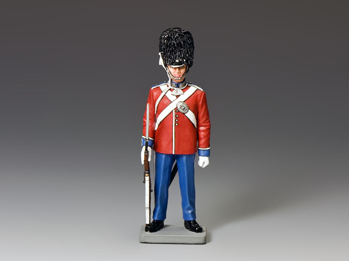 Standing-At-Ease Danish Royal Guardsman (Red Tassel)