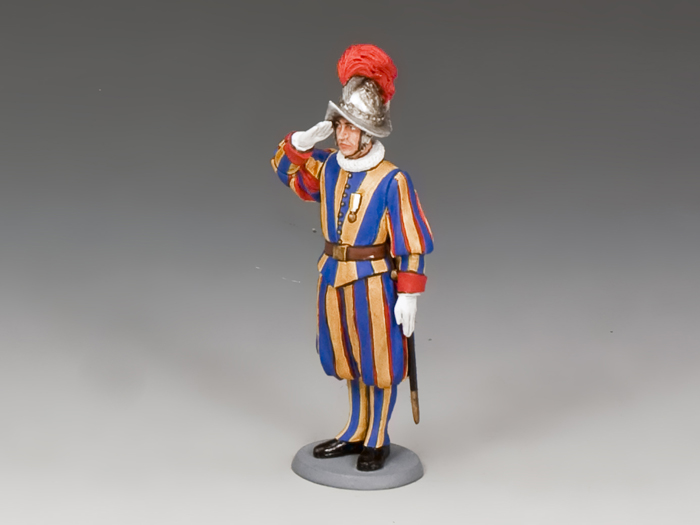 Swiss Guard Corporal Saluting