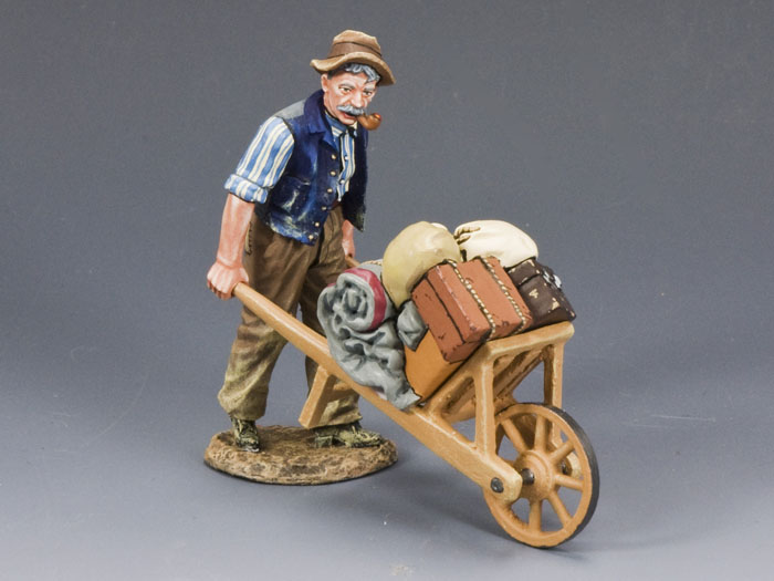 Old Man & Wheel Barrow
