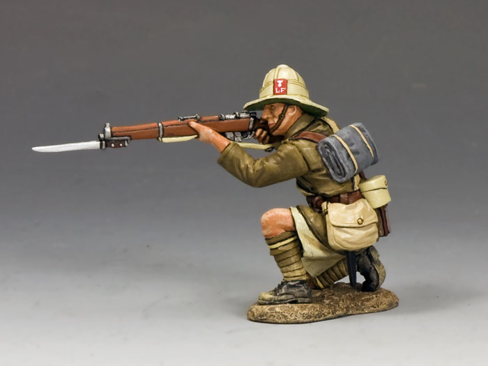Kneeling Firing Rifle (Lancashire Fusiliers, Middle East Campaign)