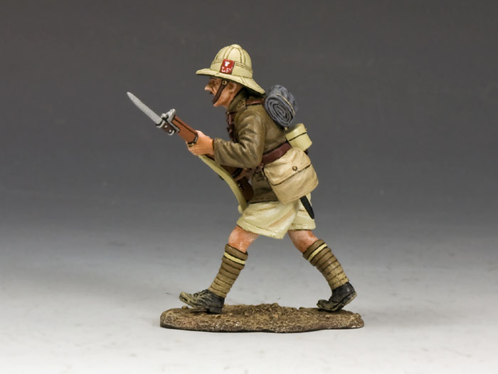 Advancing Firing Rifle (Lancashire Fusiliers, Middle East Campaign)