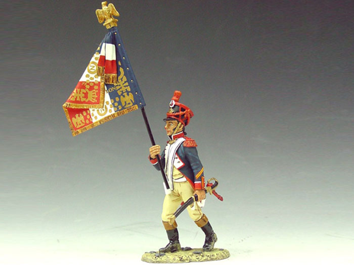 Marching French Flagbearer