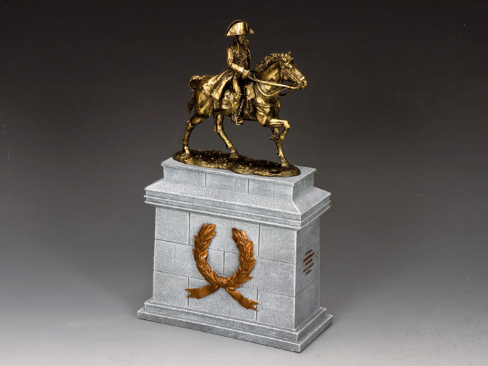 Mounted Napoleon w/ Large Equestrian Statue Plinth (SP075 + SP089)