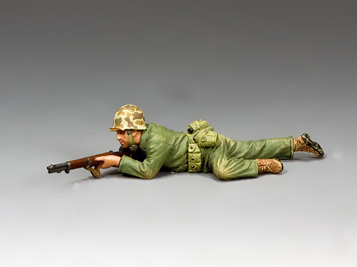 Marine Crawling Into Position