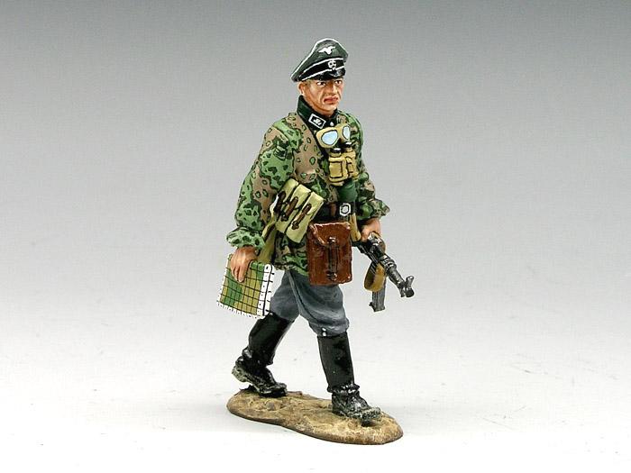 Marching Waffen-SS Officer  Waffen Ss Officer