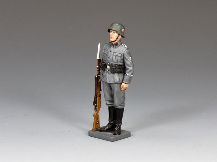 Waffen SS Standing-to-Attention
