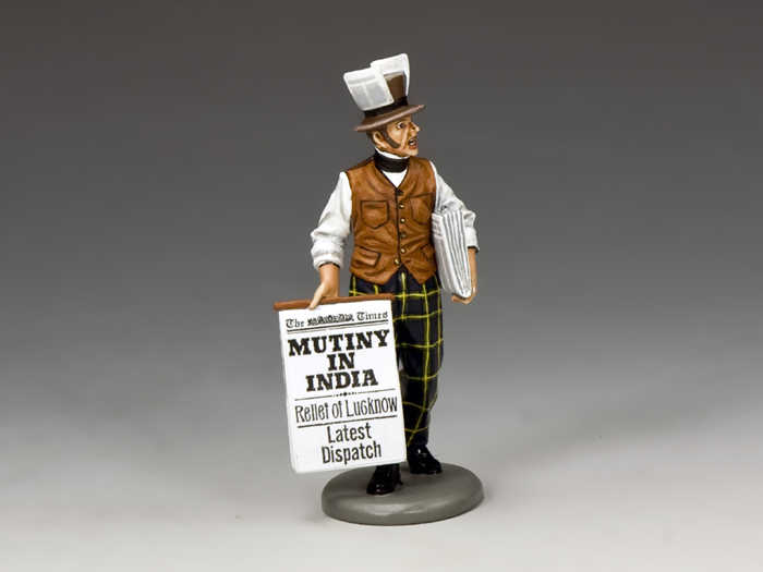�MUTINY IN INDIA!� Newspaper Seller, World of Dickens