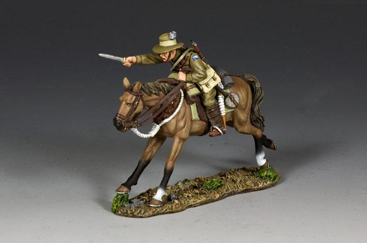 AL097 Australian Light Horse Trooper Charging w/ Bayonet