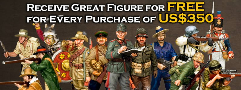 King & Country Toy Soldider Free Figure Promotion