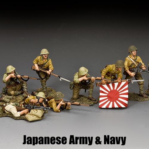 Japaneses Army & Navy, King & Country Toy Soldiers
