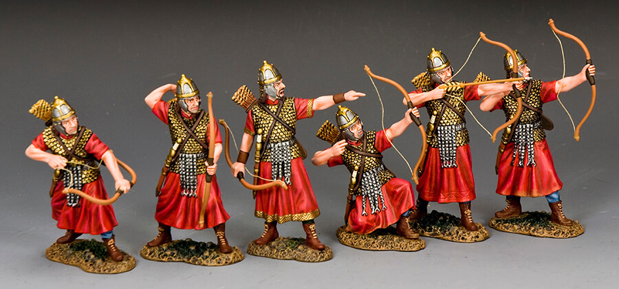 ANCIENT ROMAN ARCHERS TAKE AIM...