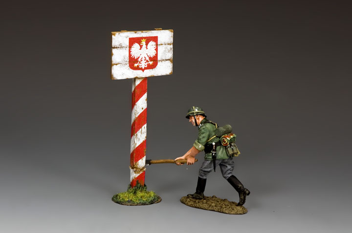 WH086 Cutting Down the Polish Road Sign