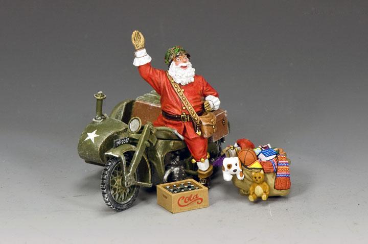 XM017-02 GI Santa On A Motorbike